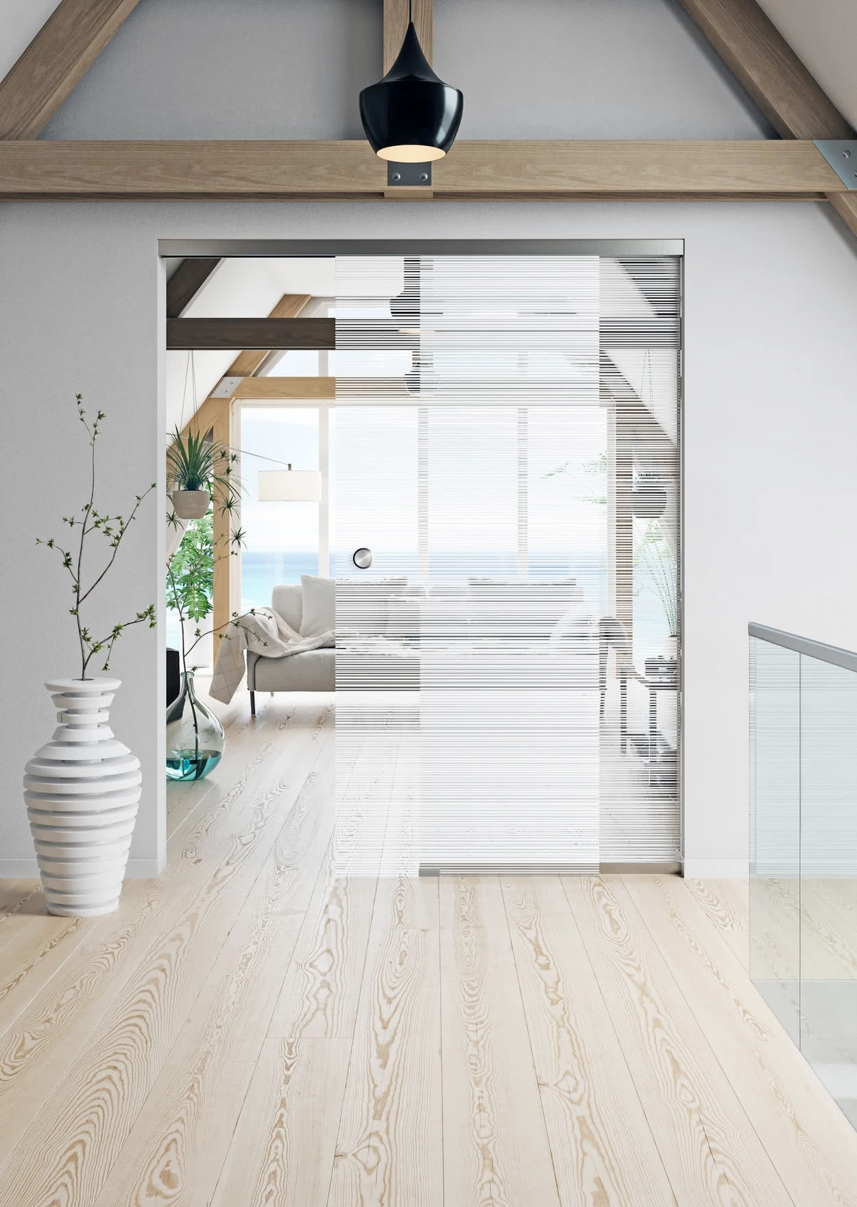 Modern Frameless Glass Sliding Doors