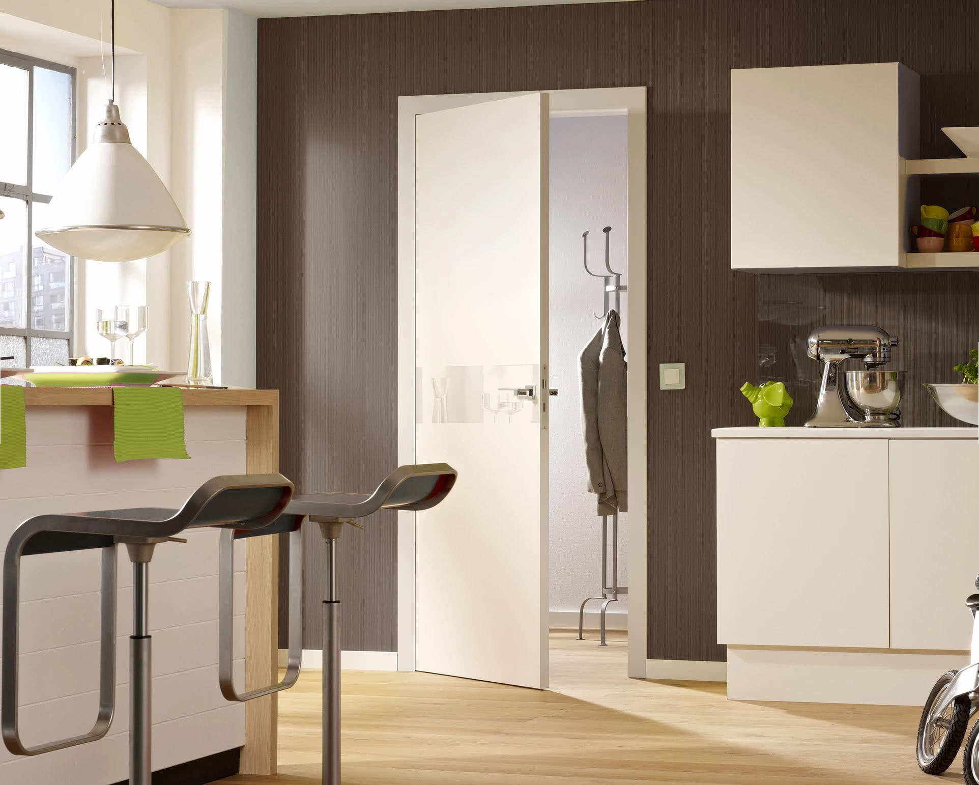 Modern Interior Door With An American Style Frame and Hidden Hinges
