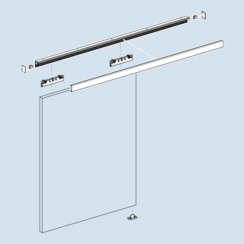 Sliding Track Hardware Box-Track