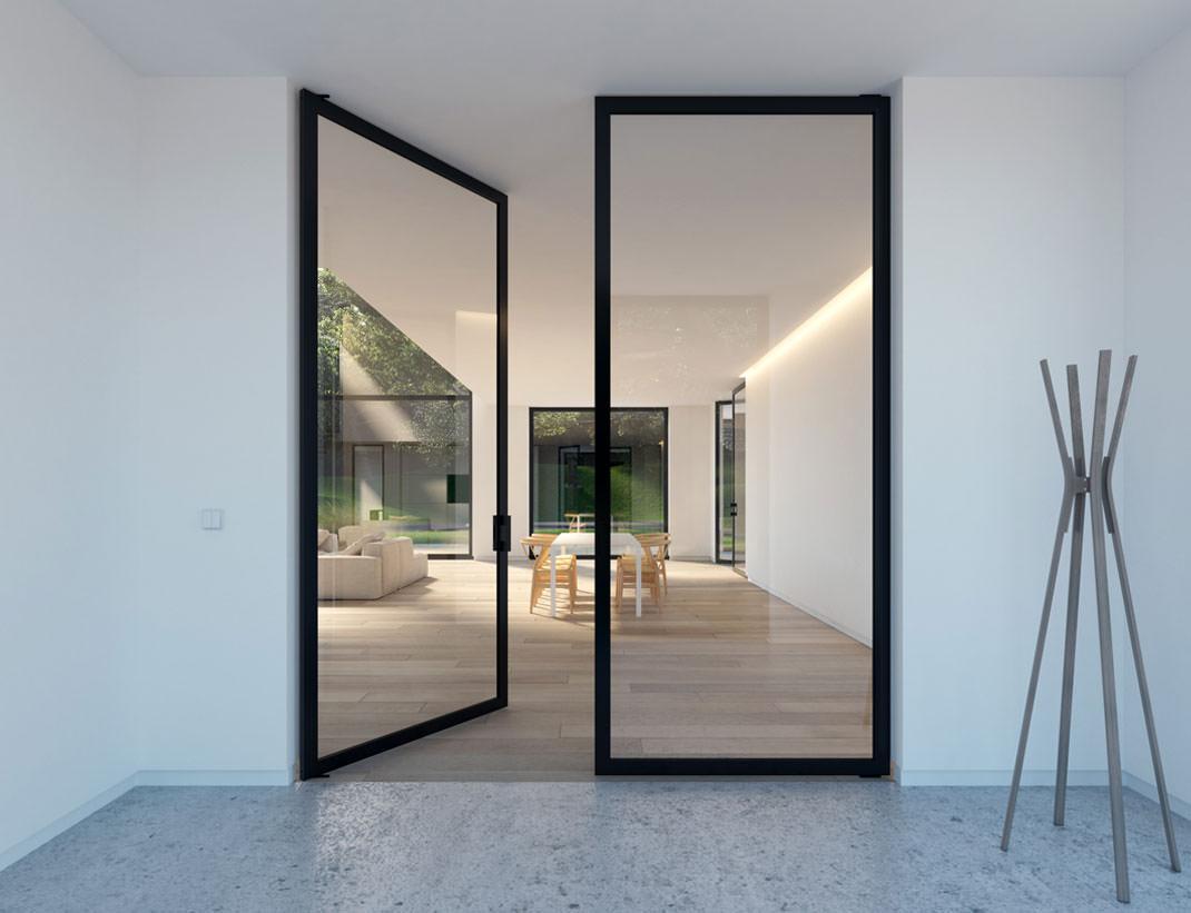 """Pivot Doors Model """"SVING"""" Double glass door"""
