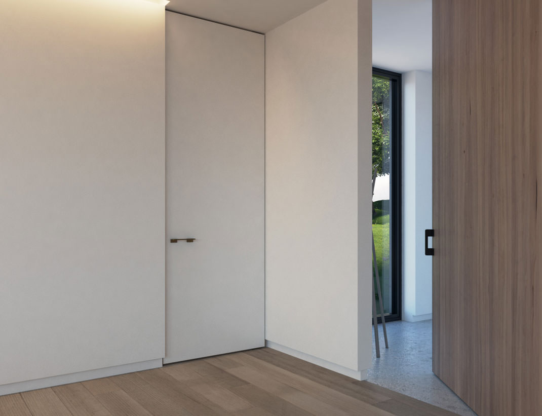 """Pivot Doors Model """"SVING"""" lacquered or with wooden surface"""