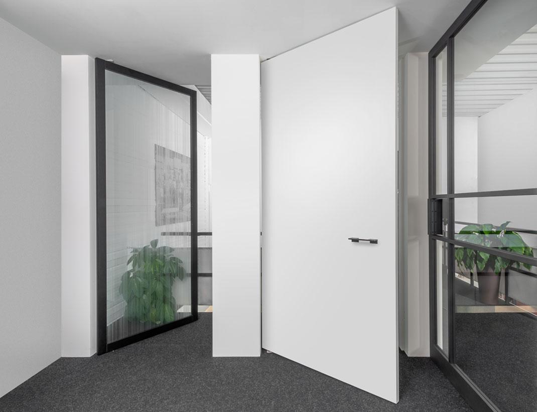 """Pivot Doors Model """"SVING"""" as glass or wooden door"""